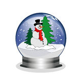 Snowglobe with snowman Stock Images