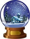 Snowglobe Winter Christmas Landscape Stock Photography
