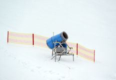 Snowgun. Snow canoe on a ski slope Royalty Free Stock Images