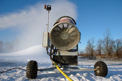 Snowgun working at winter Royalty Free Stock Photography
