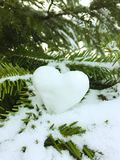 Snowheart στοκ εικόνα με δικαίωμα ελεύθερης χρήσης