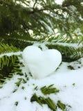 Snowheart imagem de stock royalty free