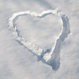 Snowhjärta Arkivbilder