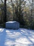 Snowie vinterdag arkivfoton