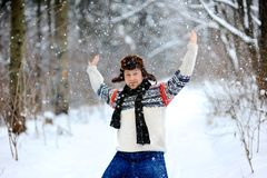 It is snowing Stock Photo