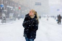 Snowing1 fotografia royalty free