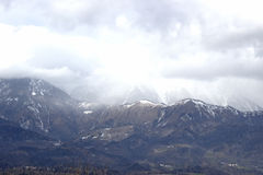 Snowing in the Alps Royalty Free Stock Image