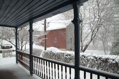 Snowing in Chalfont, Pa, USA Royalty Free Stock Photography
