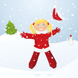 Snowing Christmas day Royalty Free Stock Photos