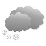 Snowing day as weather icon Stock Image
