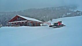 Snowing in Grau Roig, Andorra royalty free stock images