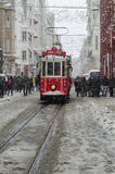 Snowing at Istiklal Royalty Free Stock Photography