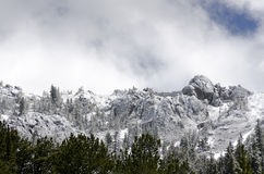 Snowing mountains in Yellowstone Stock Image
