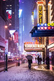 Snowing 42nd St Royalty Free Stock Images