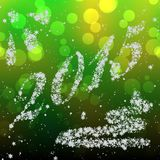 Snowing New Year 2015 generated hires texture Stock Photos