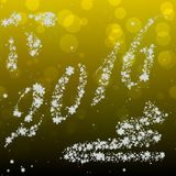 Snowing New Year 2016 generated hires texture. Or background Royalty Free Stock Photos