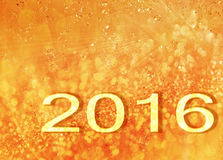 Snowing New Year 2016 generated hires texture or  background Stock Photography