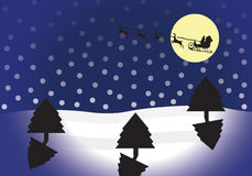 Snowing Night time Scene Royalty Free Stock Photo