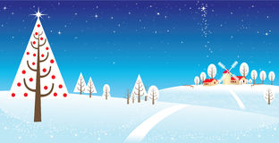 Snowing over a polar landscape Royalty Free Stock Images