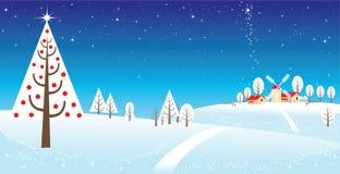 Snowing over a polar landscape. Colour bg Royalty Free Stock Images