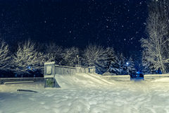 Snowing in park Stock Photography