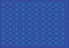 Snowing Pattern with Blue Background stock illustration