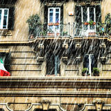 Snowing at Rome Stock Images