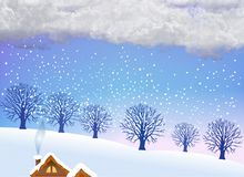 Snowing season Stock Images