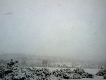 Snowing in Syria. Snowing in 2011 in Syria.. amazing snow, weather and view Stock Photography