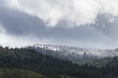 Snowing w górach Obraz Royalty Free