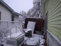 Snowing w korpusu językowego christi tx Zdjęcia Stock