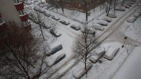 Snowing w sąsiedztwie Bucharest zbiory