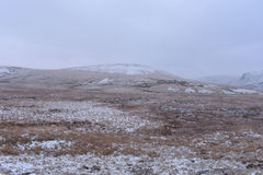 Snowing in welsh hills Stock Photography