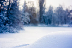 Snowing Winter Background Stock Image