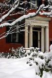 Snowing winter at Boston, Massachusetts, USA. Stock image of a snowing winter at Boston, Massachusetts, USA stock image