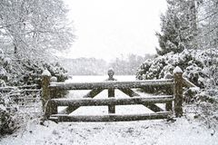 Snowing in Winter in the Netherlands. Snowing in winter in the countryside from the Netherlands Royalty Free Stock Images