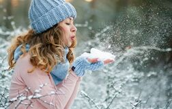 Free Snowing Winter Girl Beauty Fashion Concept Stock Image - 168754381