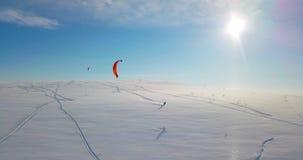 Snowkiting на севере