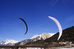 Snowkiting photo libre de droits