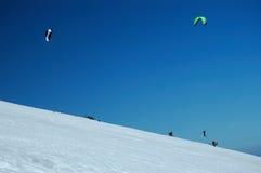 snowkiting Zdjęcie Royalty Free