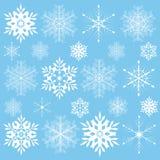 Snowklake uppsättning Arkivfoto