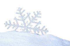 Snowkristall royaltyfria bilder