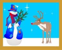 Snowlady y su amigo? Imagen de archivo libre de regalías