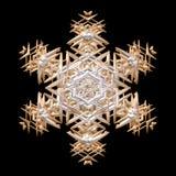 Snowlake mettalic dell'immagine 3D del bello oro d'argento bronzeo decorato illustrazione di stock
