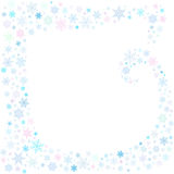 Snowlakes-Rahmen stock abbildung