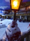 Snowland gramado Zdjęcie Royalty Free