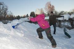 Snowlokalvård Fotografering för Bildbyråer