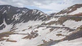 Snowly冬天高加索山脉史诗Timelapse白种人秀丽自然乔治亚文化 股票视频