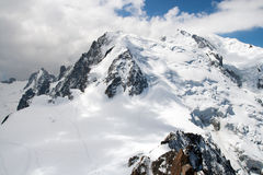 Snowly peaks in european Alps Royalty Free Stock Photos