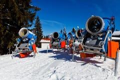 Snowmachine德国阿尔卑斯 图库摄影